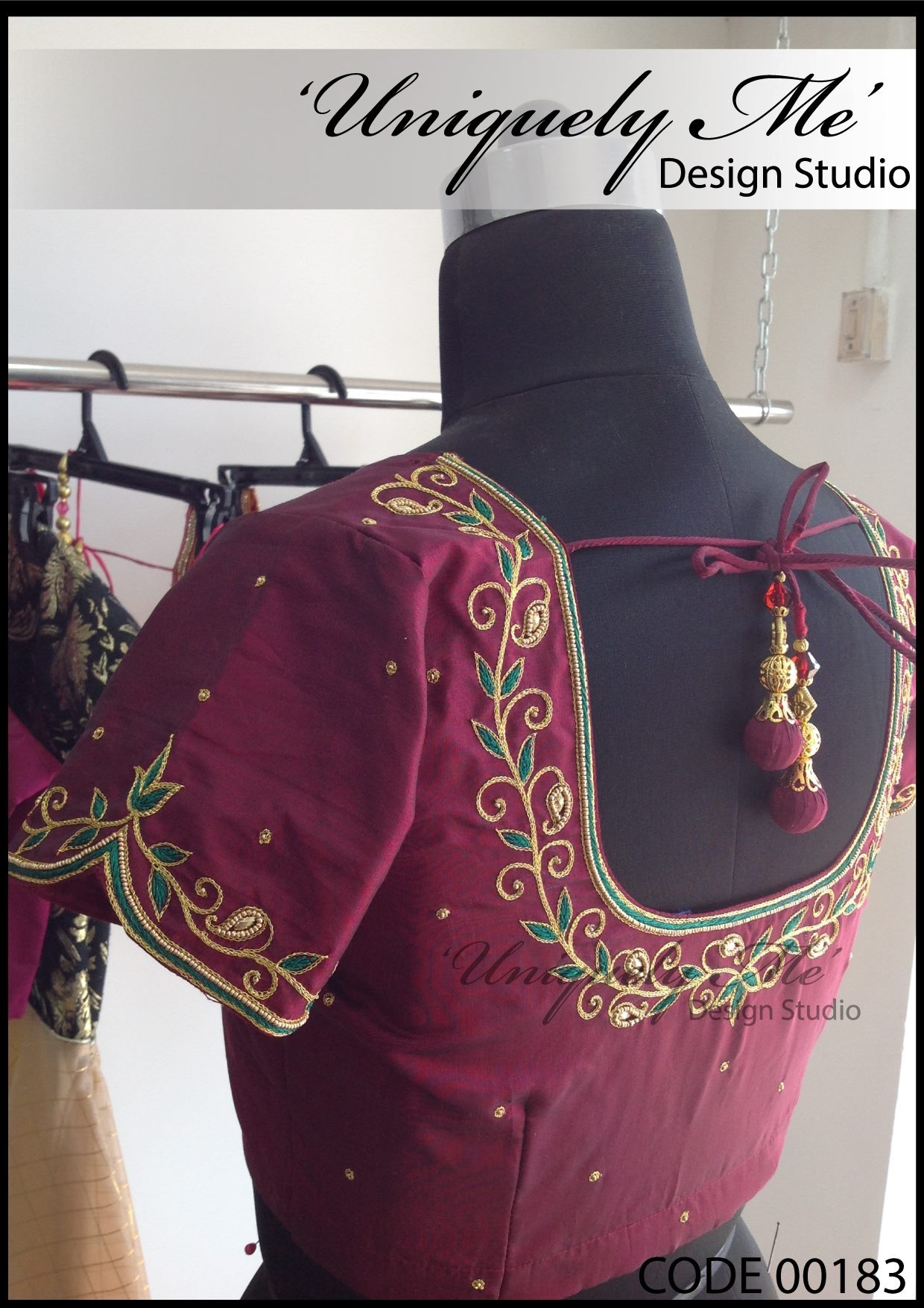 Bridal embroidery blouse in ECR