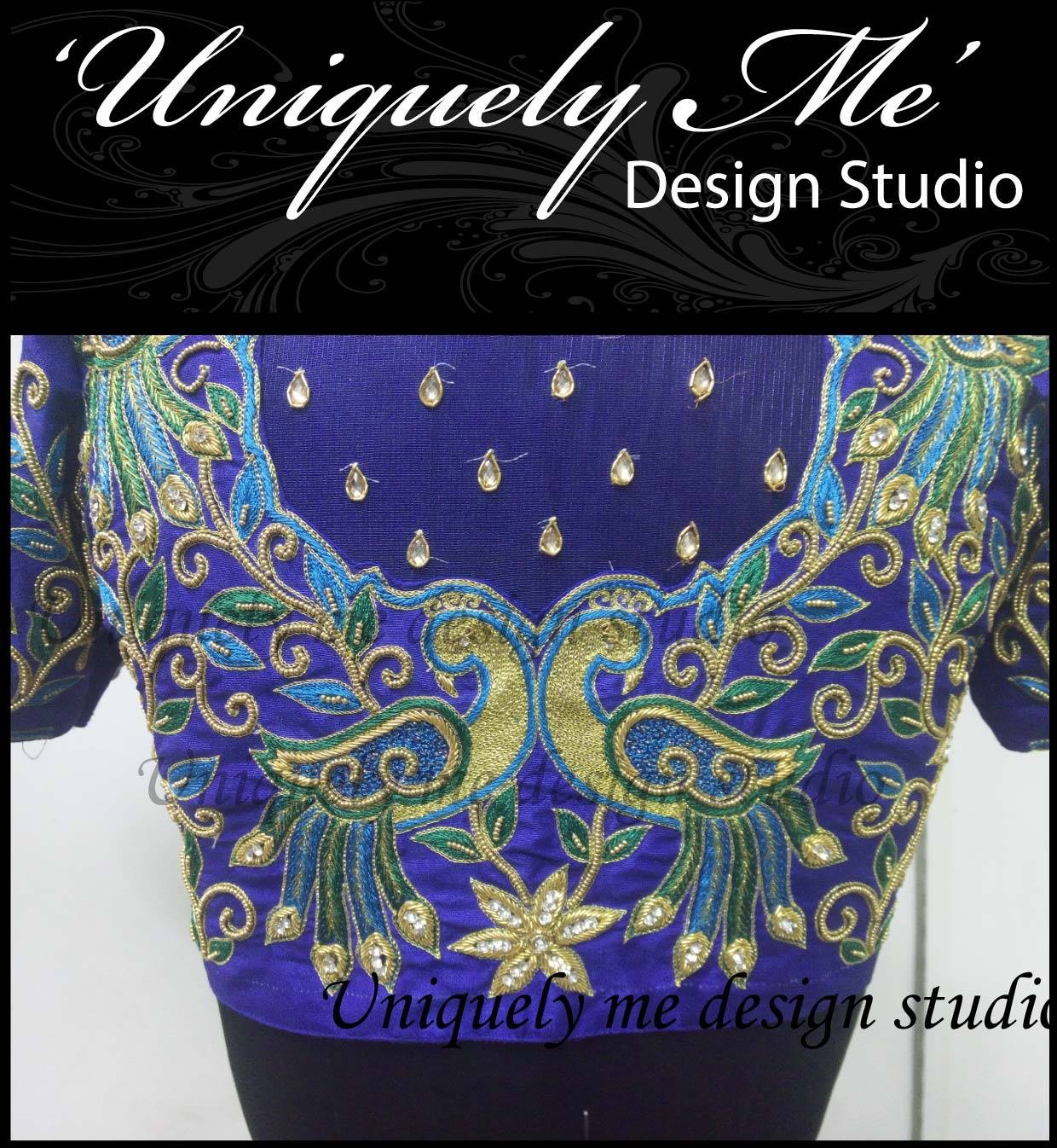 Simple embroidery blouse in ECR
