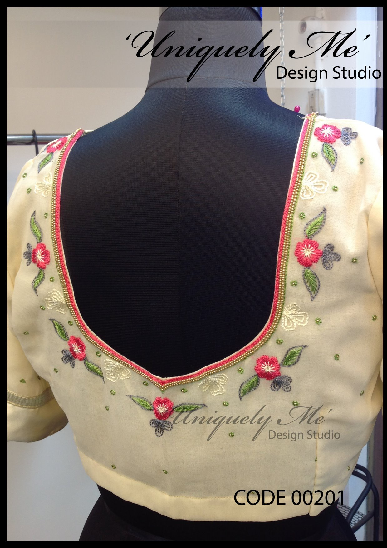 Heavy embroidery blouse in Taramani
