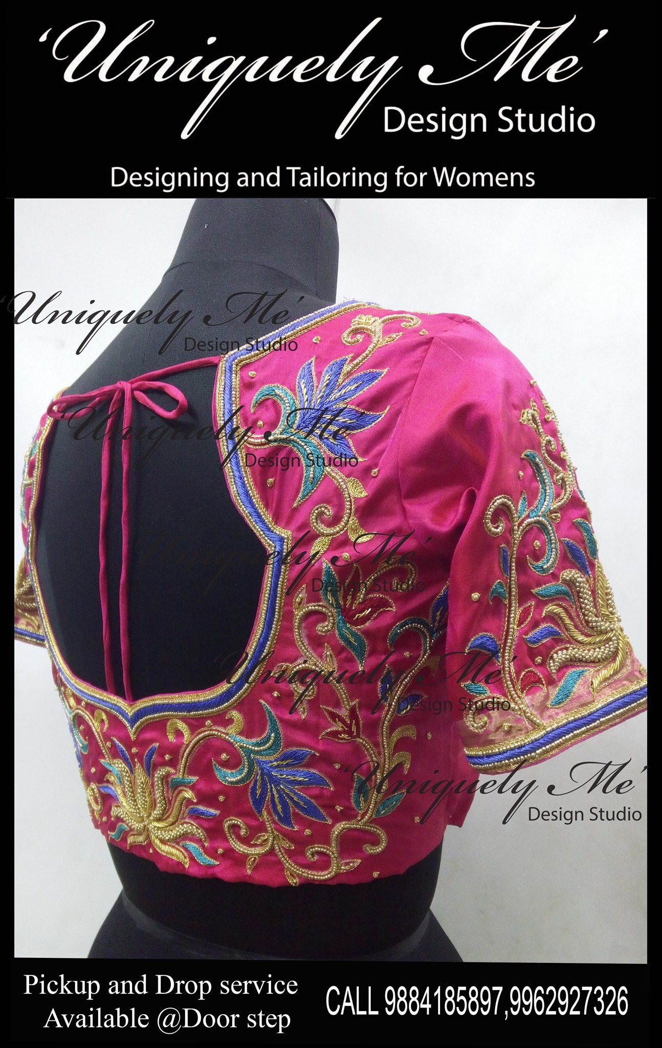 Maggam work blouse in Mylapore