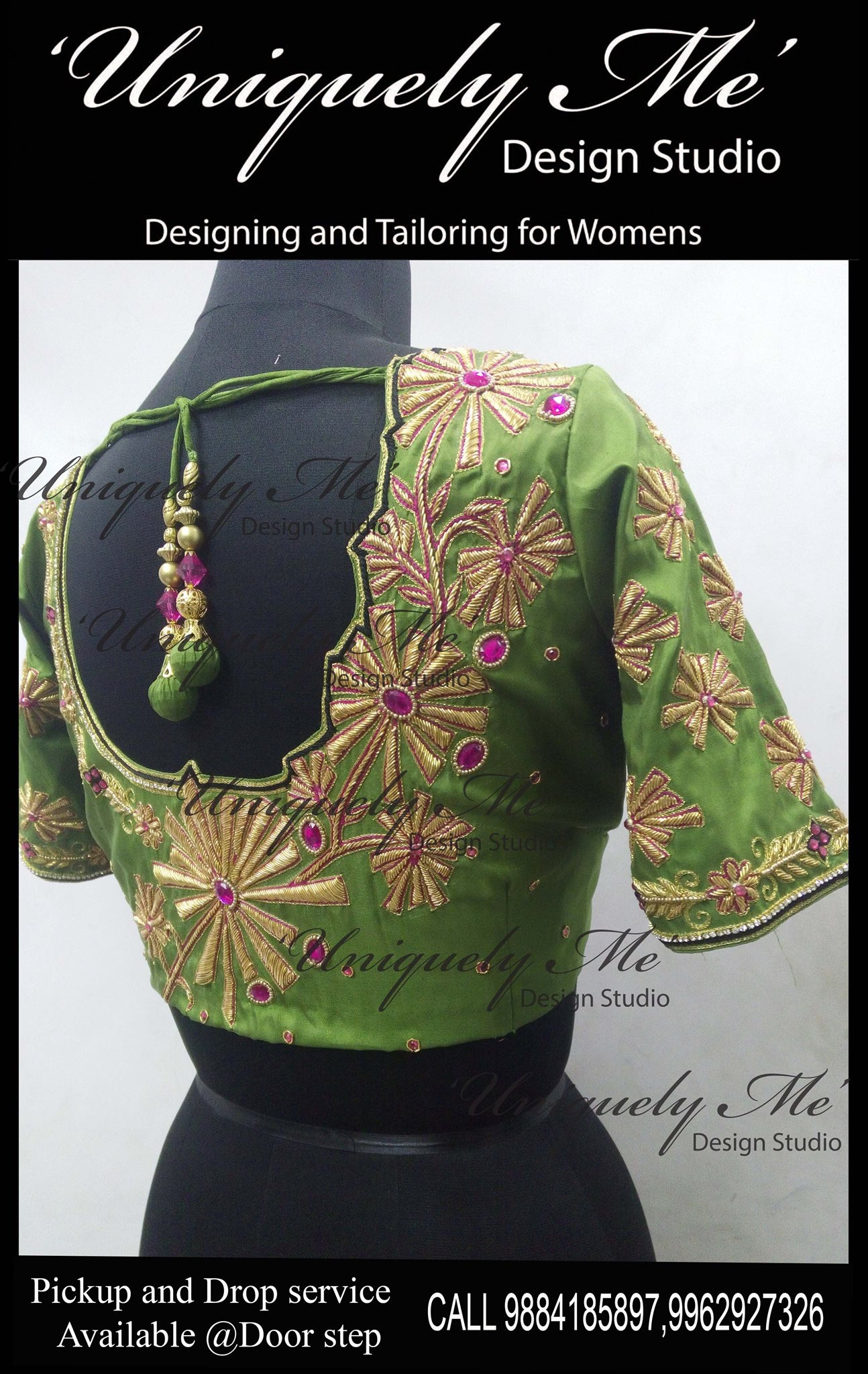 Reception blouse in Mylapore