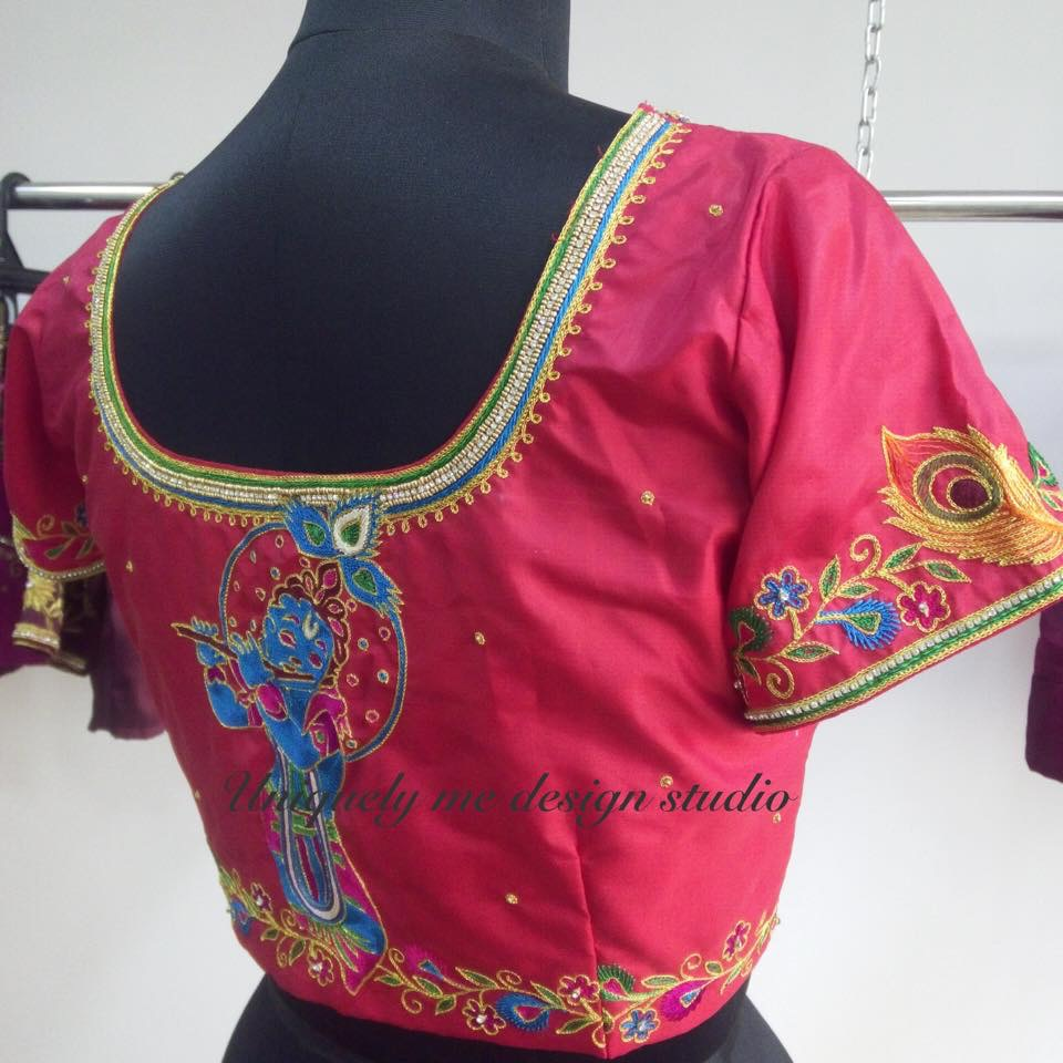Heavy embroidery blouse in Mylapore