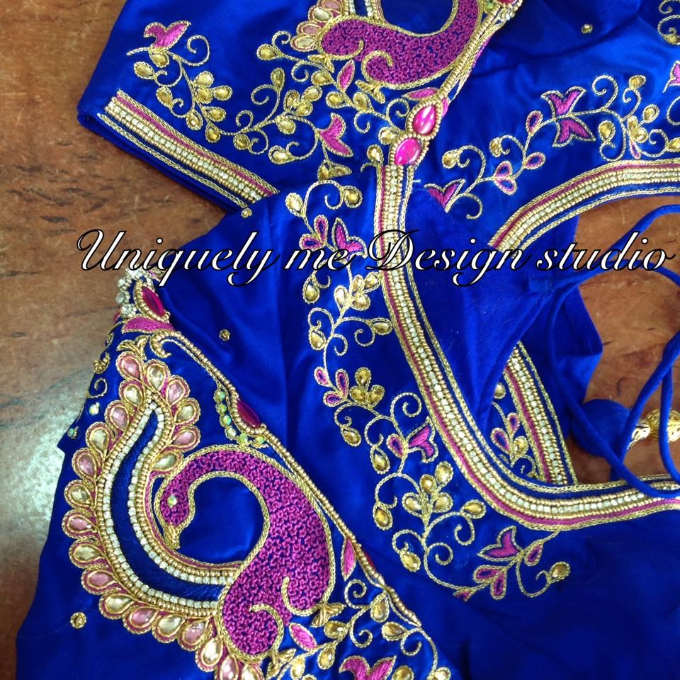 Simple embroidery blouse in Mylapore