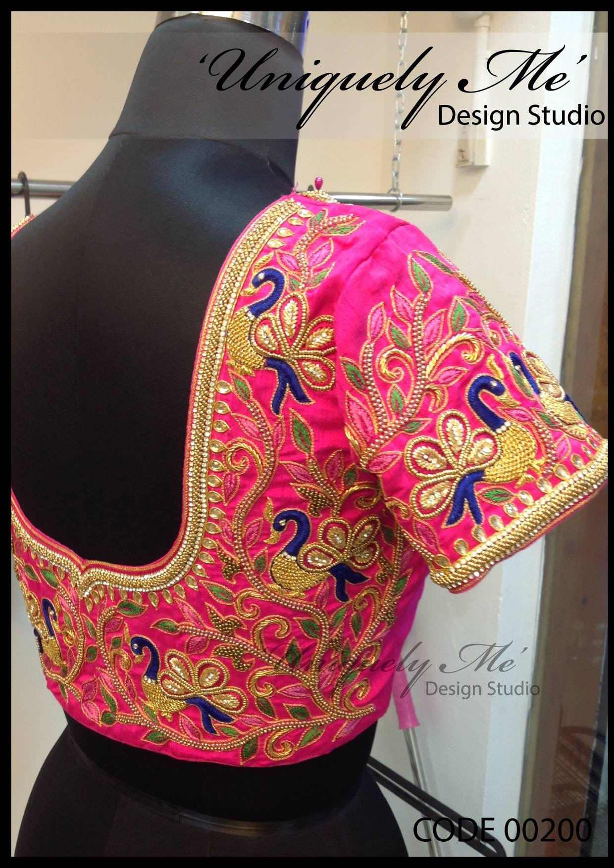 Designer silk embroidery blouse in T Nagar