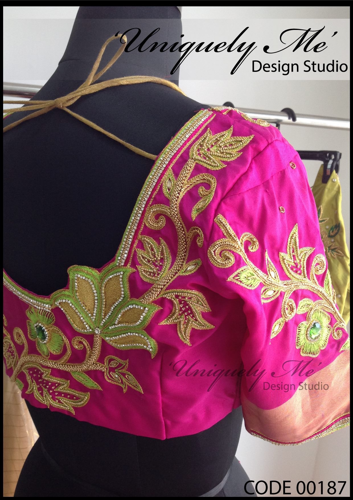 Designer silk embroidery blouse in Avadi