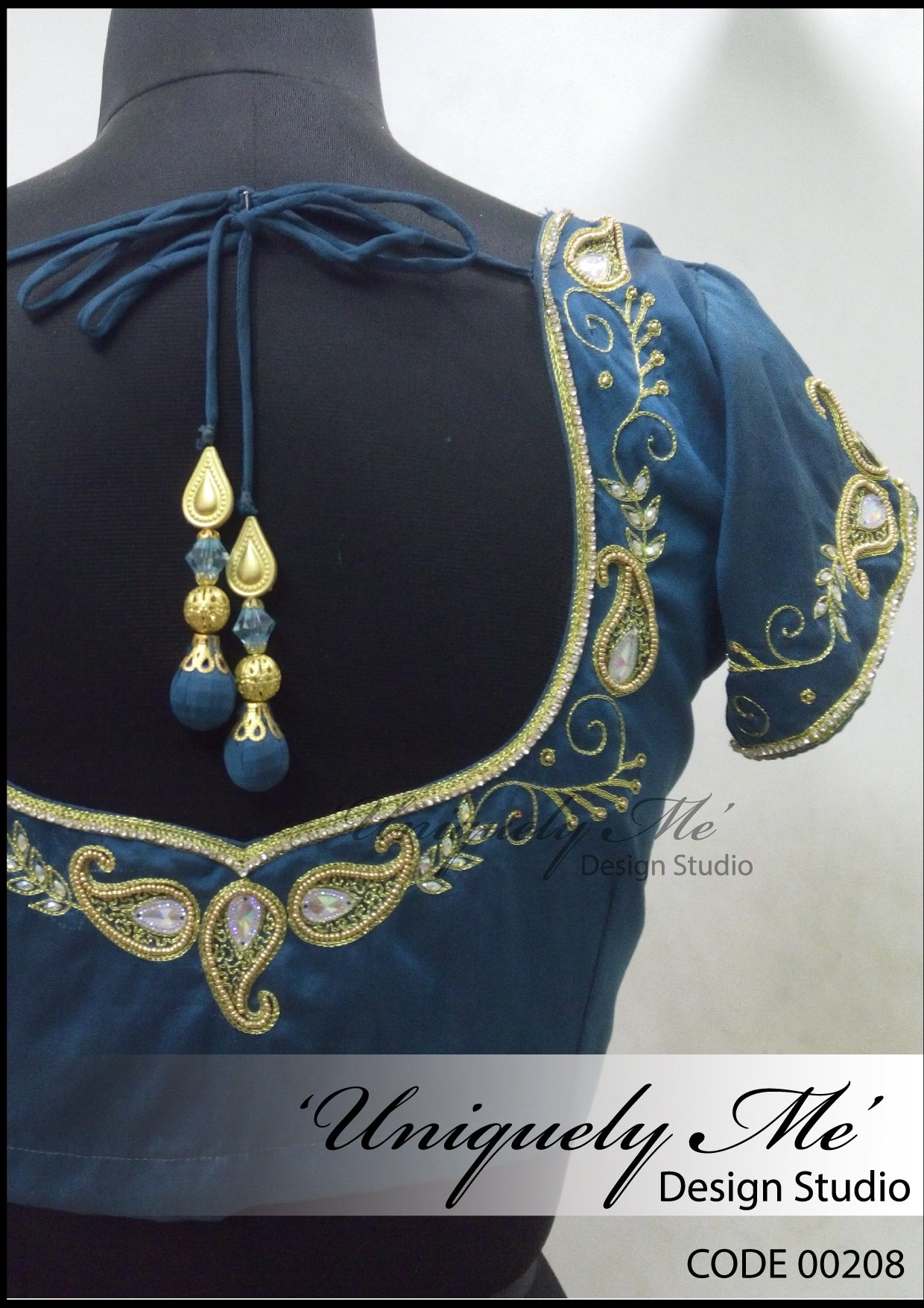 Bridal blouse in Padi