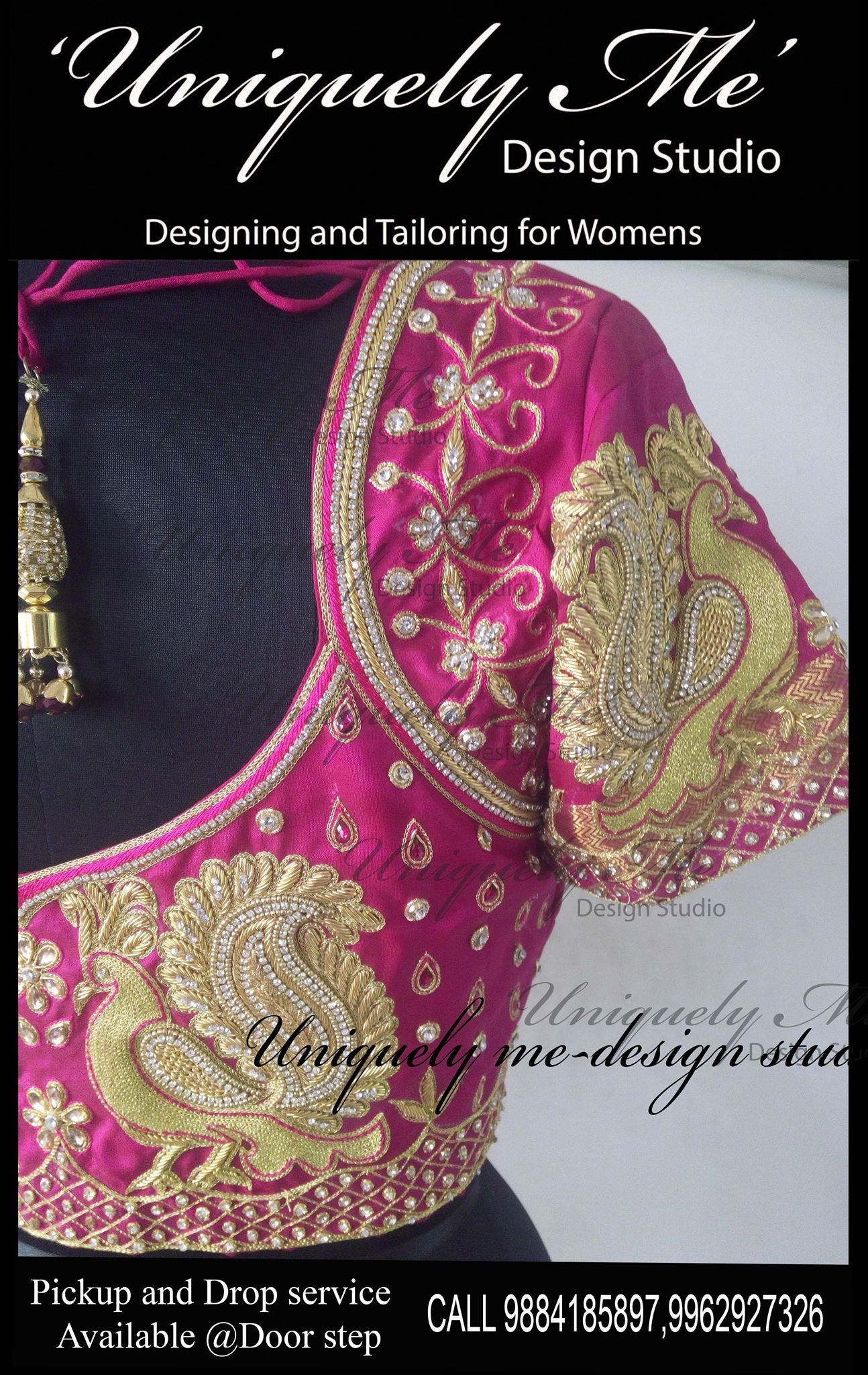 Bridal embroidery blouse in Padi