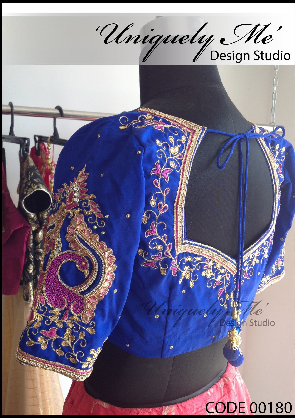 Zardosi work blouse in Padi