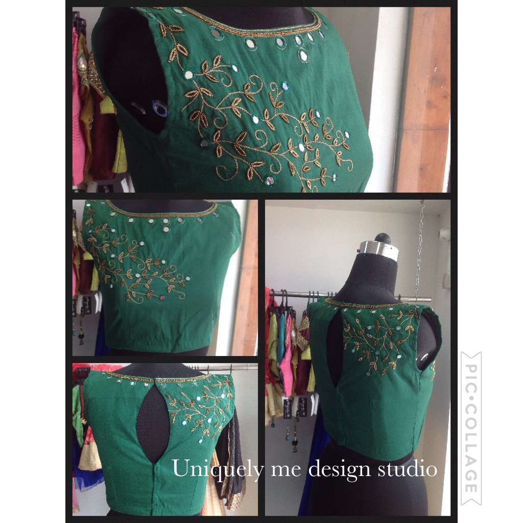 Simple embroidery blouse in Padi